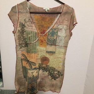 Large Cache beautiful short sleeve shirt